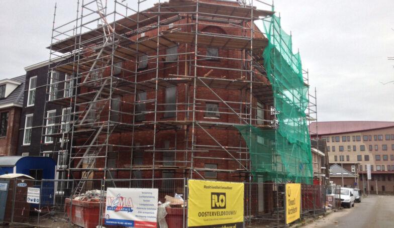 Foto's vanaf de bouw: Woonpakhuis