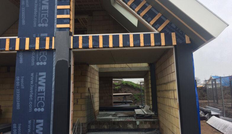 Foto's van de bouw van LuDi op het Brunink Buitenveld te Enschede